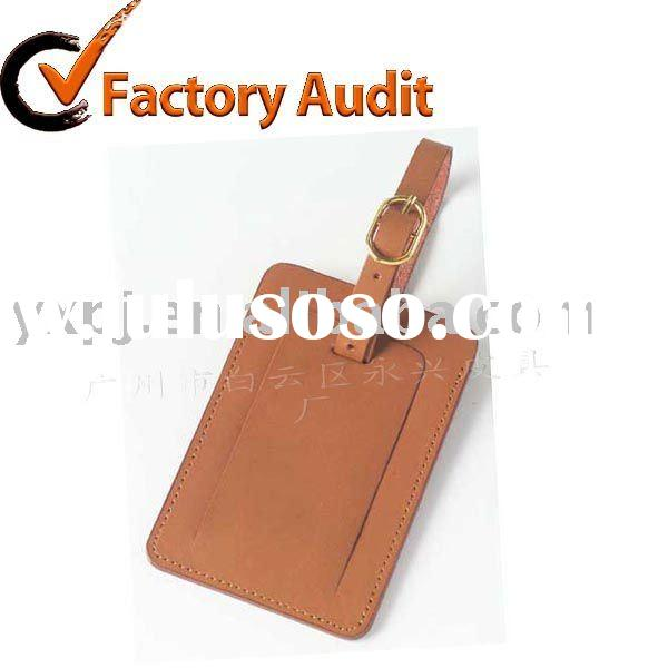 LT002 leather luggage tag