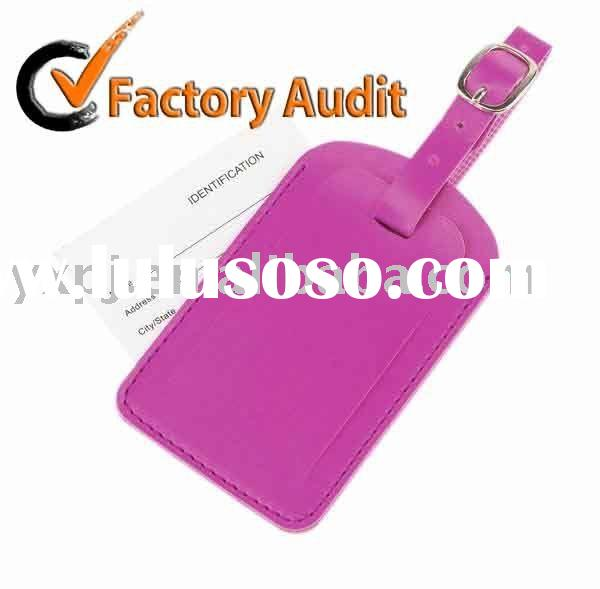 LT018 leather luggage tag