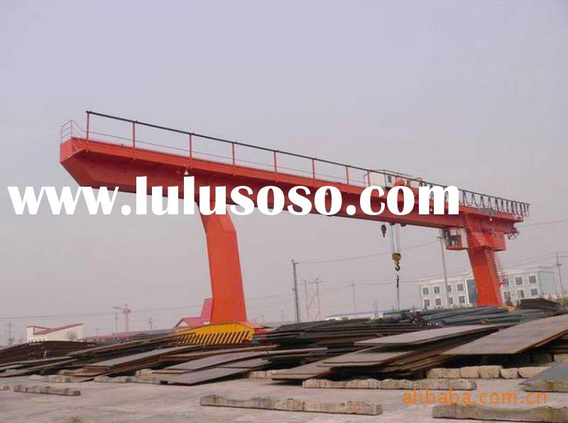 L Type Gantry Crane Used to Lift Steel Plates in Open Storage