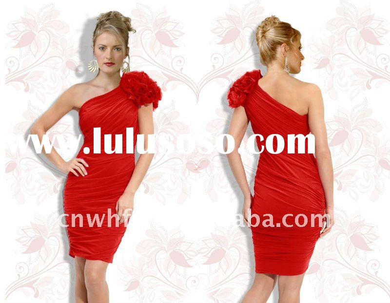 Ladies casual dresses pictures red WHS0028#