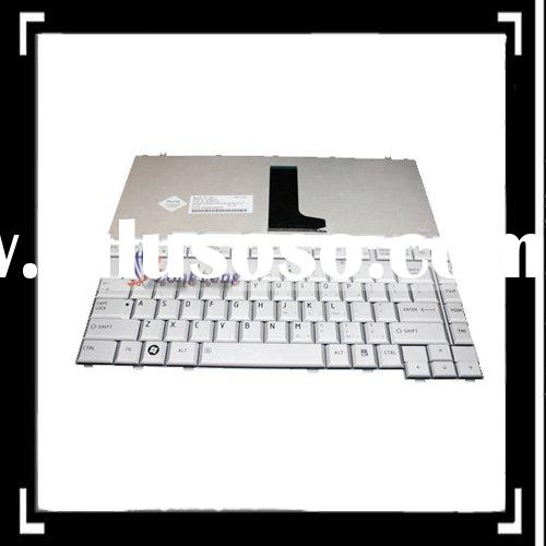 Laptop Wireless Keyboard For Toshiba Satellite A200 A205 A210 A215 Grey White Glossy