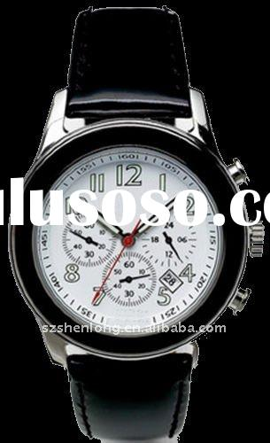 Leather Wristwatch in style