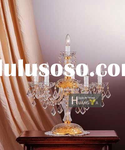 Luxury tradditional table lamp/candle chandelier table lamp