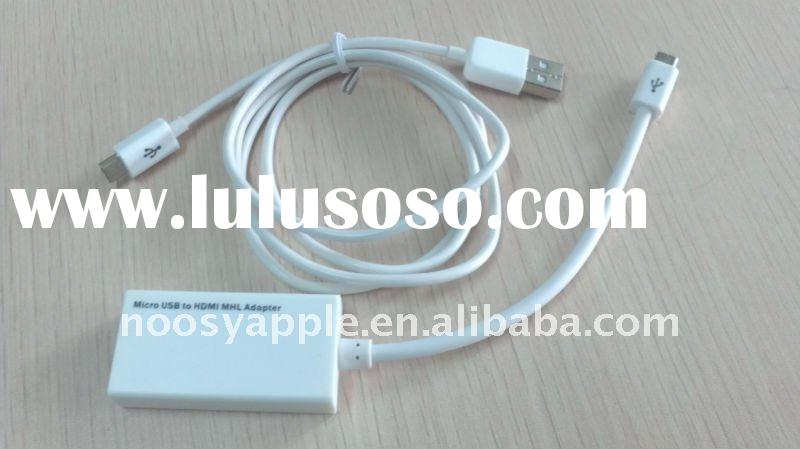 MHL cable Micro USB to HDMI adapter cable for Samsung Galaxy S2/HTC Sensation/ HTC Flyer Tablet/ HTC