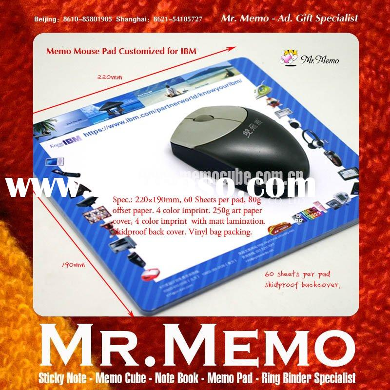 Memo Mouse Pad/Paper Mouse Pad/Mouse Pad with Memo/Mouse Pad Mat for IBM