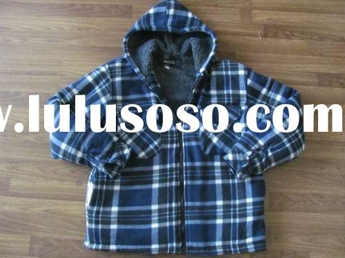 Mens Flannel coat with fur lining