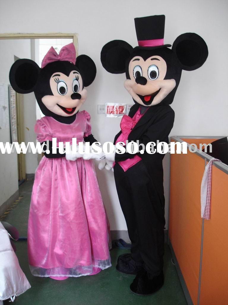 Mickey and Minnie Mouse Cartoon Mascot Costume