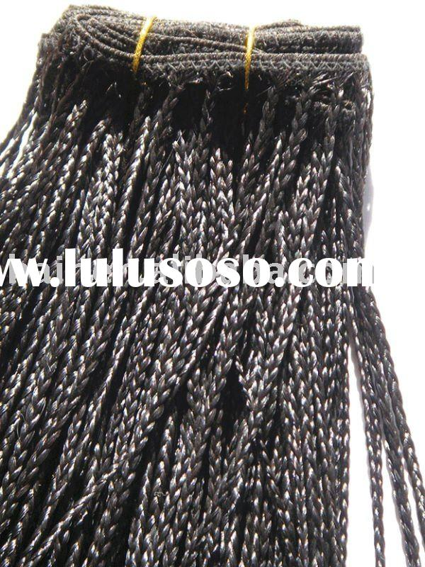 Micro Braid Human Hair Extensions Weft Weaving 100