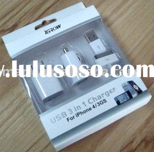 Mini USB car charger & Power adapter & Cable 3 in 1