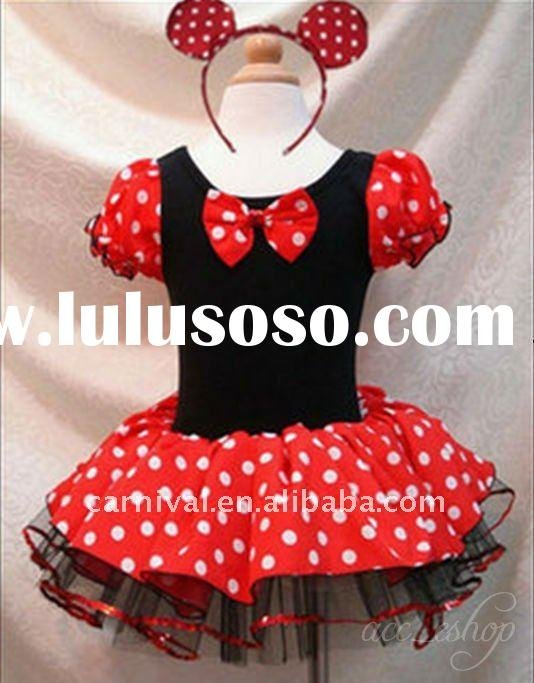 Minnie Mouse Girls Ballet Tutu dance costumes(BSCC-1167)