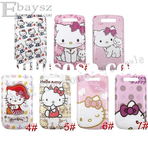 New Cute Hello Kitty Hard Back Cover Case For BlackBerry 9800,IP-191
