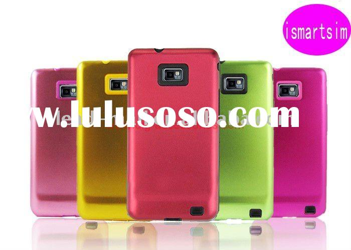 Newest Aluminium Metal Silicon mobile phone Case for Samsung Galaxy S II i9100