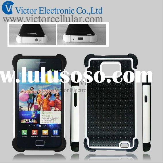 Newest cell phone triple defender combo case cover for samsung Galaxy S2 I9100