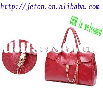 Newest style Genuine leather fashion women handbag