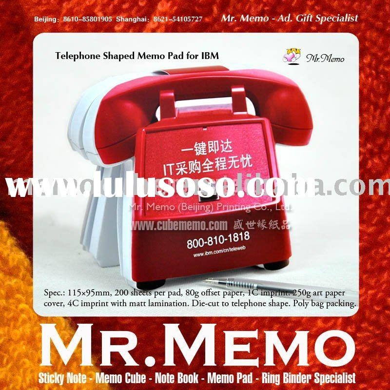Notepad memo pad sticky note customized