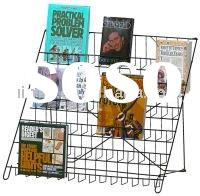 Open Countertop Book shelf Magazine Display Stand Literature Display Metal Display Rack