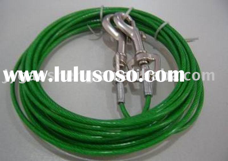 PVC coated steel wire rope, tie out cable for dog