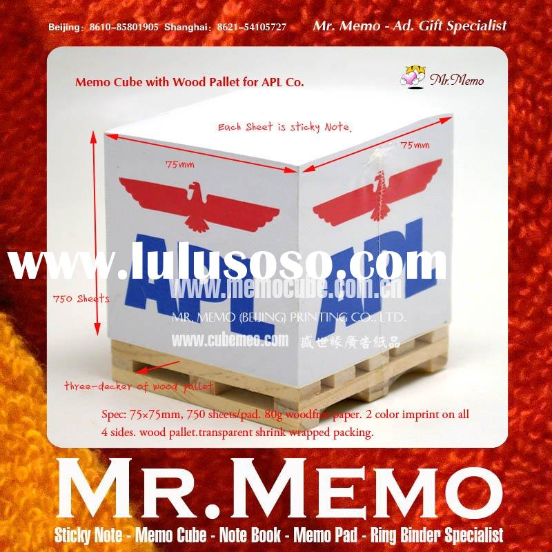 Paper Cube/Memo Cube/ Note Cube/ Memo Pad/ Note Pad With Wooden Pallet for APL Co.