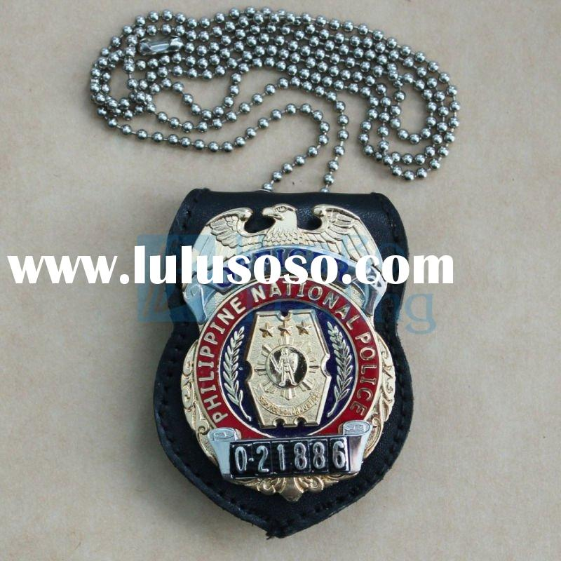 Philippines Police Officer Badge With Tag