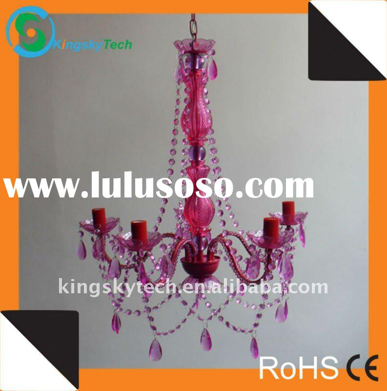 Pink Crystal Chandelier/Acrylic chandelier/Plastic chandelier/Glass chandelier KS1550P-5PK