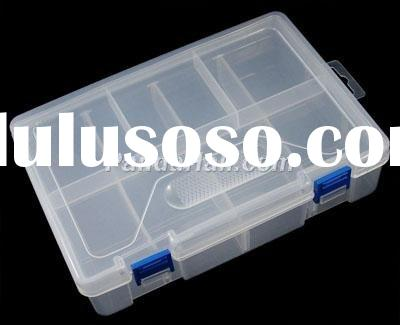 Plastic Beads Containers, Jewelry Box, 2 Layers, 10 Compartments, about 23cm long, 16cm wide, 6.1cm