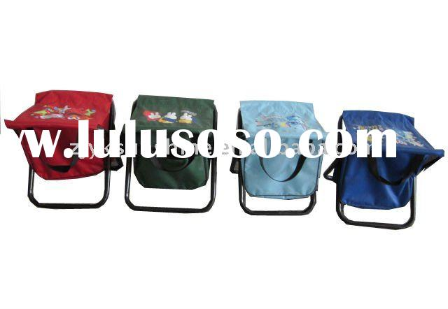 Portable fishing stool with cooler bag