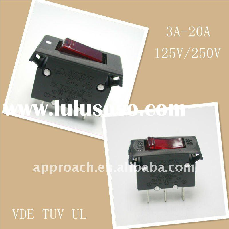 Power Switch 15A with red lamp,long teminals.