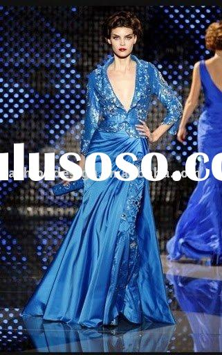 RE180 Charming long sleeves bridesmaid dresses party dress prom dress arabic evening dresses