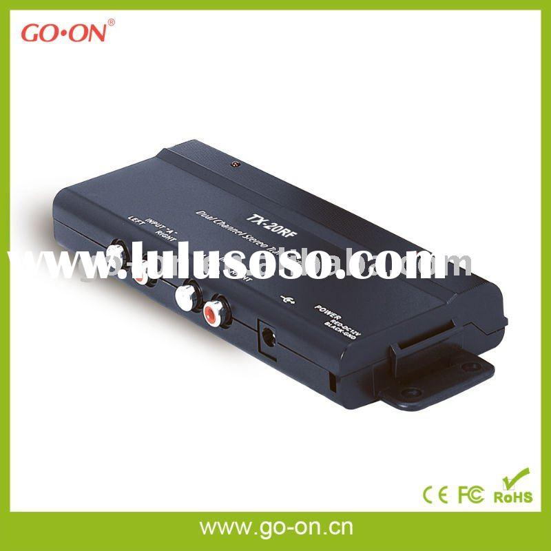 RF dual channel wireless transmitter for car audio