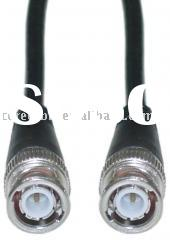 RG58/AU Stranded BNC Cable, Coaxial cable RG58 with BNC plug, BNC connector, Braided, RF cable