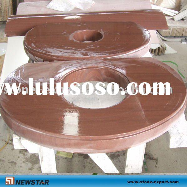 Red marble table tops dinner table