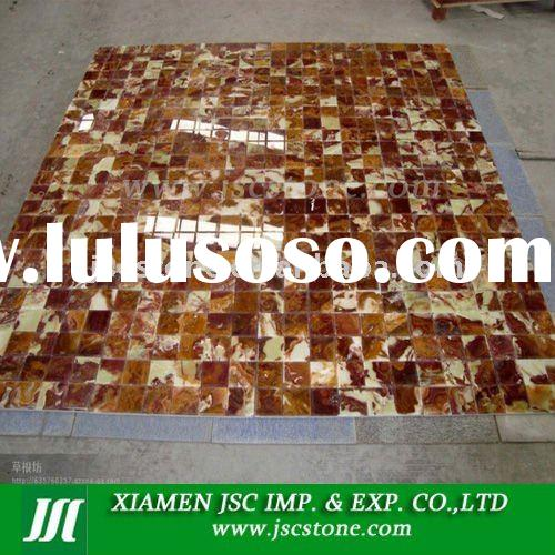 Red onyx marble mosaic tile