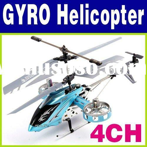 Remote Controlled Micro Mini 4ch GYRO Helicopter O-573