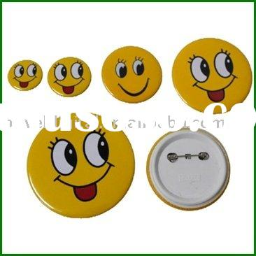 Round Blank Button Badges, Custom Badge Material