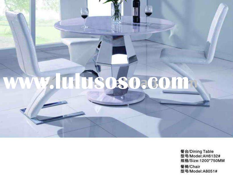 Round Marble Dining Table stainless steel frame