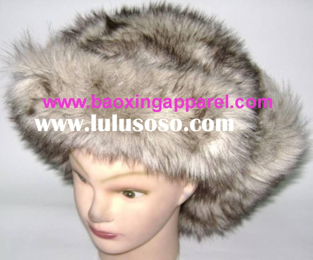 Russian Faux Fur Trooper Hat With Ear Flaps