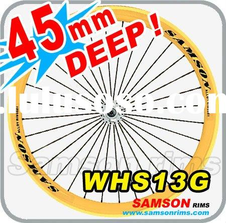 Samson WHS13G Road Bike Alloy Wheels 700C, 45mm Deep, 28/32/36 Hole , Silver/Black/Powder coating/CN