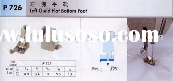 Sewing machine spare parts presser foot Left Guild Flat Bottom Foot P726