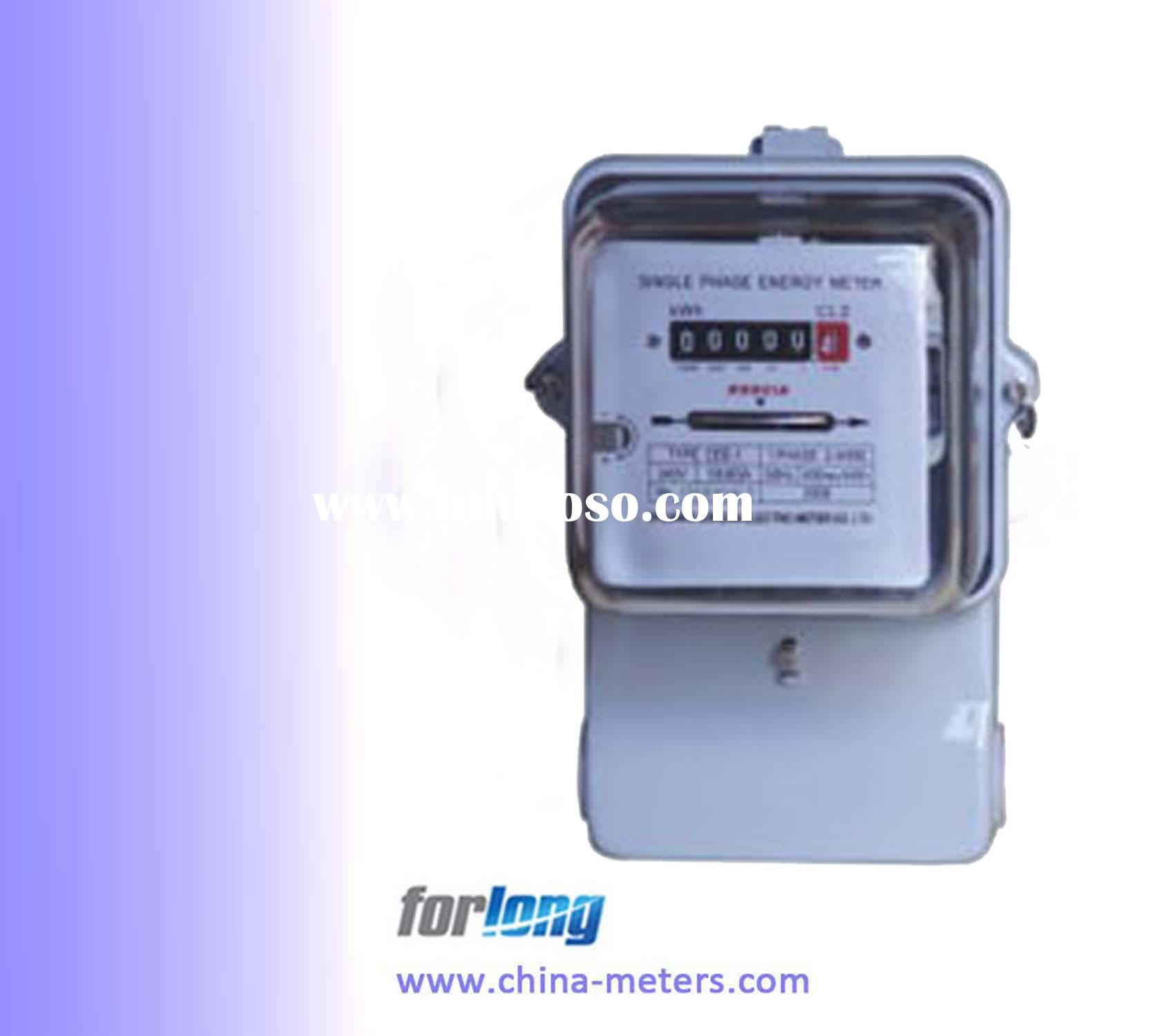 Single Phase Meter Mechanical : Single phase electrical plastic meter box for sale price