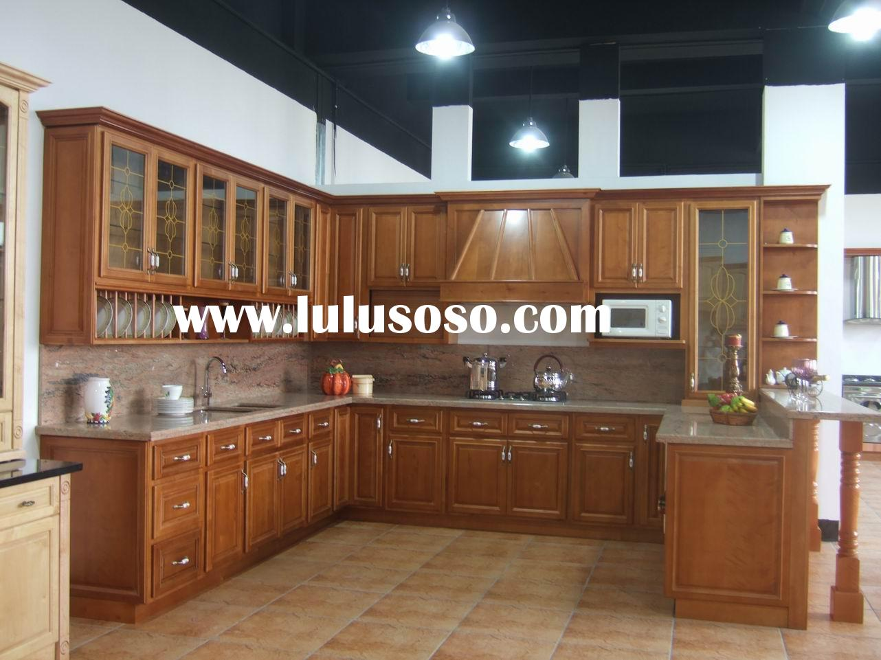 Solid American Cherry Wood Kitchen Cabinets,Kitchen Cabinetry,Kitchen Furniture