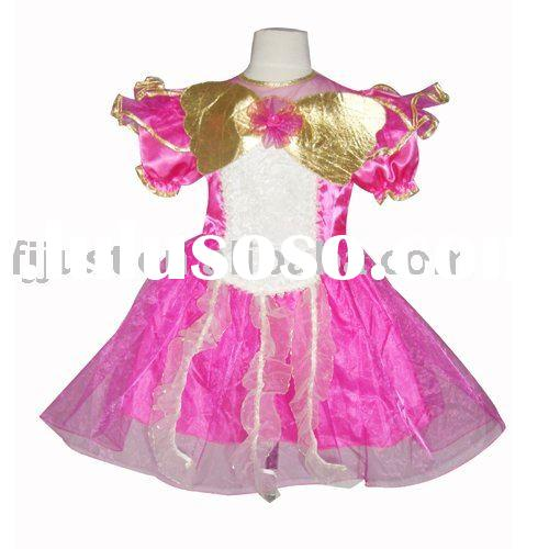 Special Light Up bridesmaid princess games dress for girls