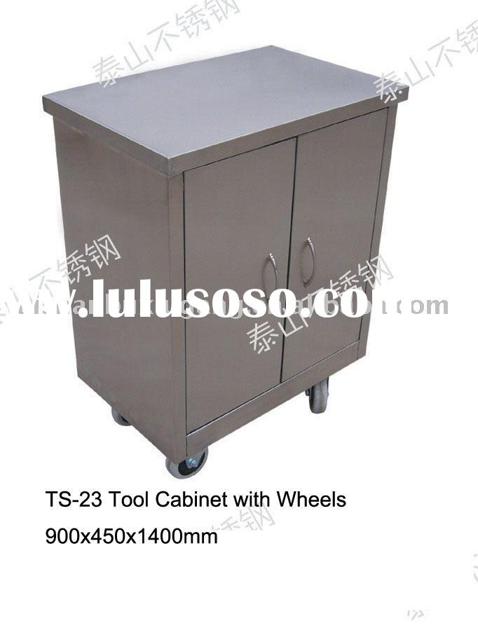 Stainless Steel Tool Cabinet with Wheels