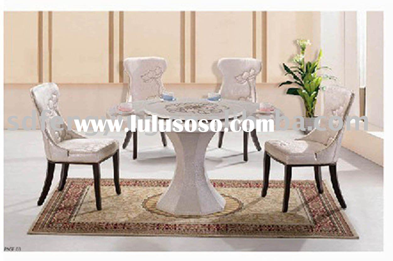 T-12 marble dining table and chair set