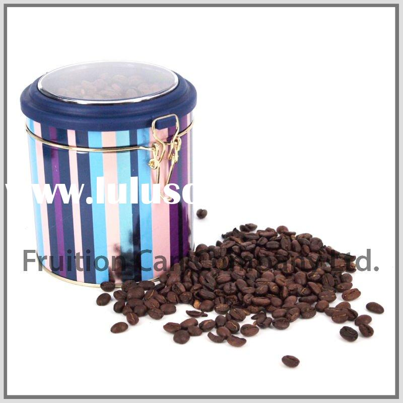 Tall Round Air-tighted Tin Can Case