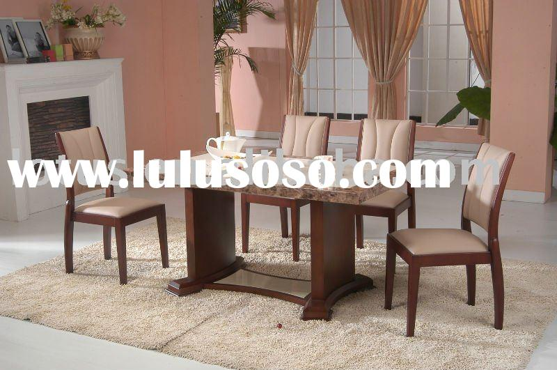Top-Grade dining room set antique style marble table dining set hot sale