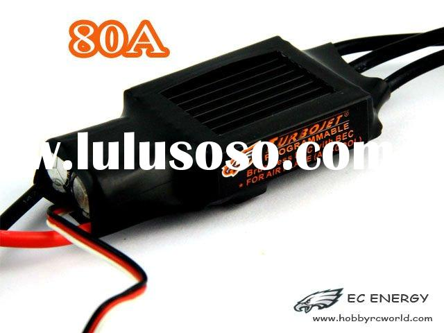 Turbojet brushless air-cooled 80A ESC with BEC for air plane