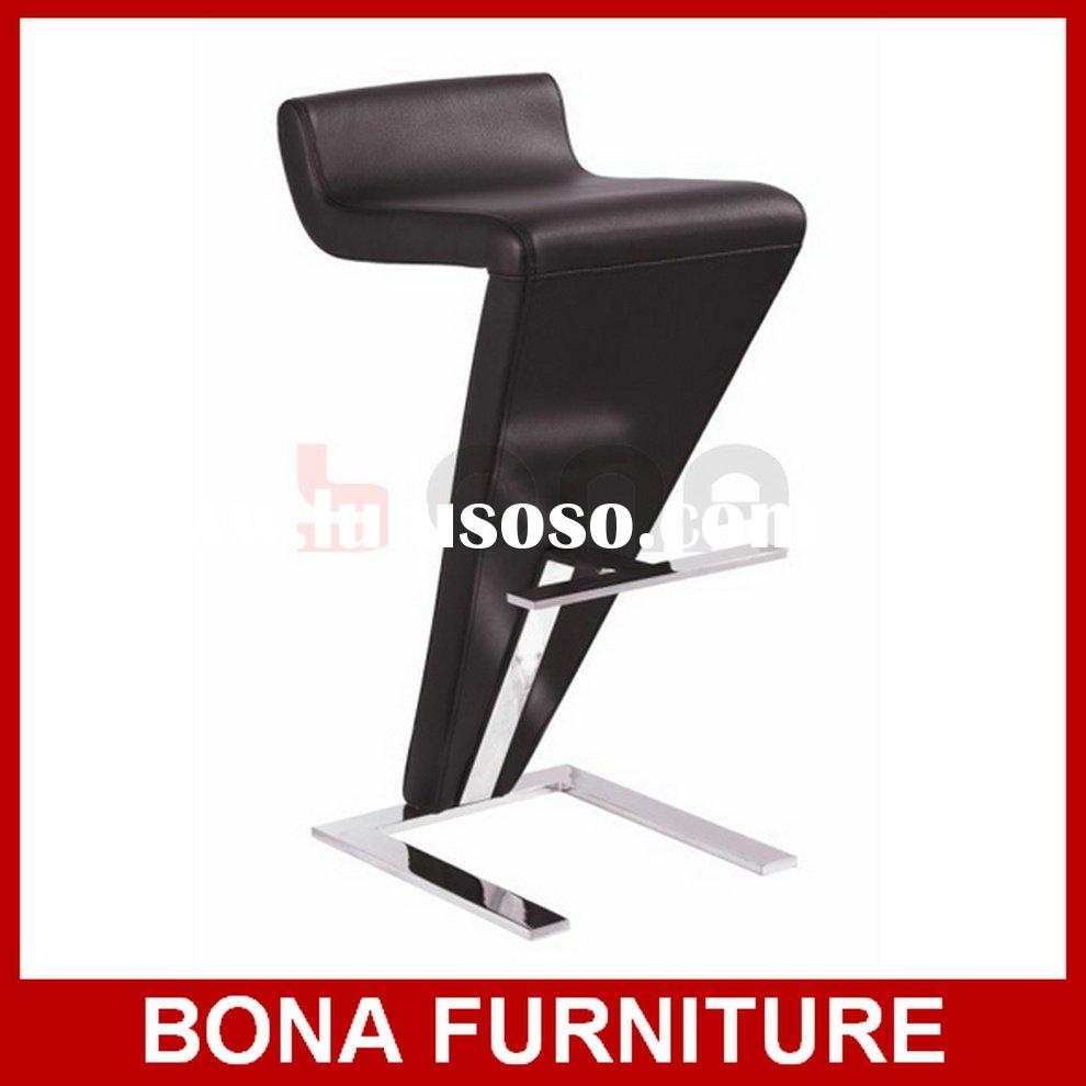 Ultra-Modern Slanted Back Swivel Bar Stool In Black BK1093