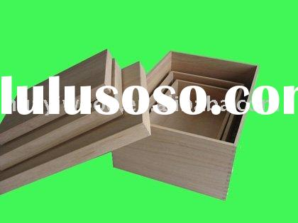 Unfinished Wooden Boxes, Nesting Gift Boxes