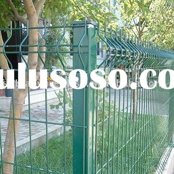 Vinyl Coated Security Wire Fencing Panel