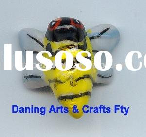 Wholesale animal bee shape ceramic bead porcelain beads jewelry beads